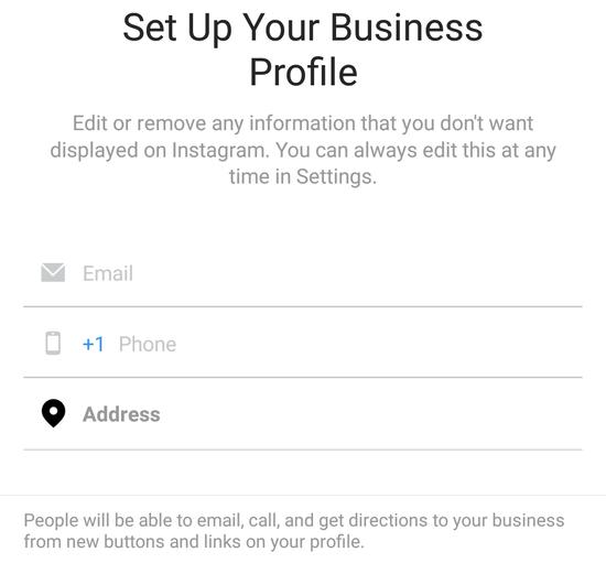 پروفایل تجاری اینستاگرام