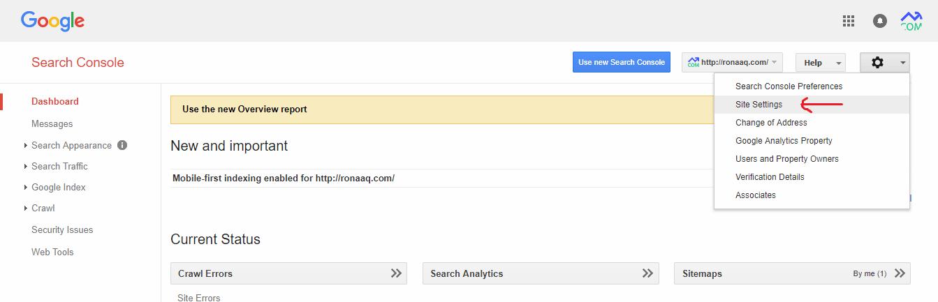 آموزش گوگل وبمستر تولز